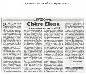 LE CANARD ENCHAINE - 17Sept14